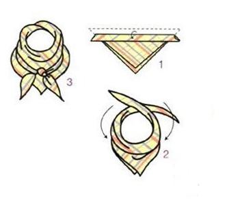 基础方巾结是最简单的方巾系法图解之一.